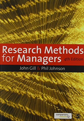 Research Methods for Managers (Mixed media product): John Gill, Phil Johnson
