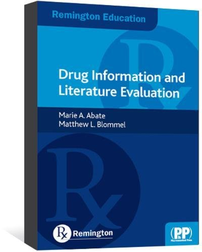 9780857110664: Remington Education: Drug Information and Literature Evaluation