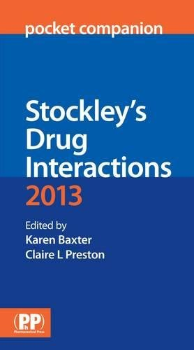 9780857110985: Stockley's Drug Interactions Pocket Companion 2013
