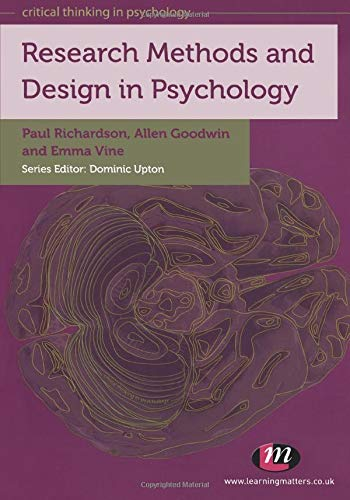 9780857254696: Research Methods and Design in Psychology