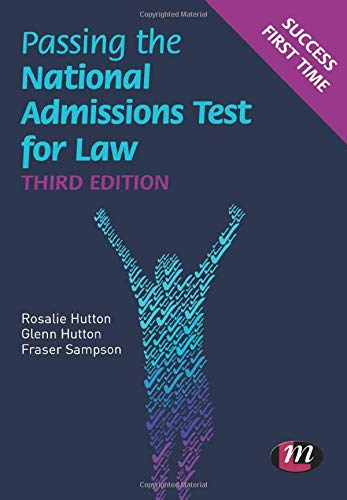 9780857254856: Passing the National Admissions Test for Law (LNAT) (Student Guides to University Entrance Series)