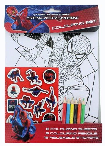 9780857262820: THE AMAZING SPIDERMAN COLOURING SET