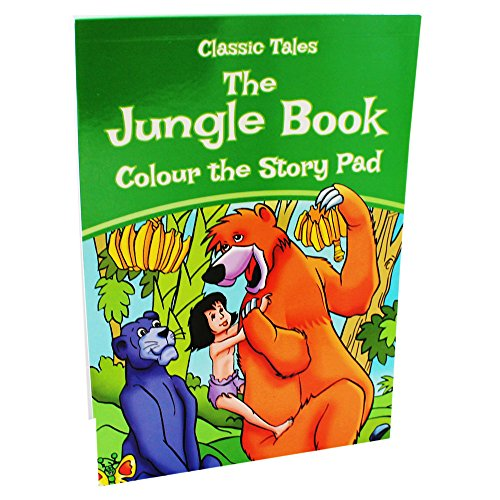 9780857266231: Classic Tales The Jungle Book Colour the Story Pad