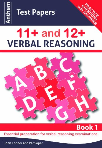 9780857283832: Anthem Test Papers 11+ and 12+ Verbal Reasoning Book 1 (Anthem Learning Verbal Reasoning)
