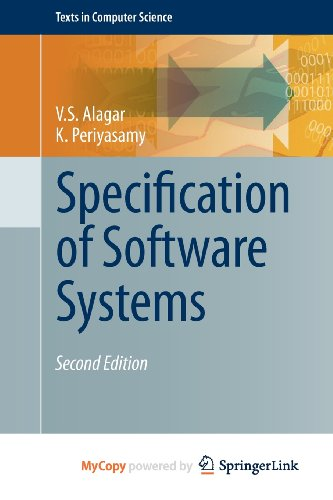 9780857292780: Specification of Software Systems