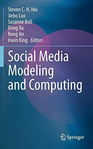 9780857294357: Social Media Modeling and Computing
