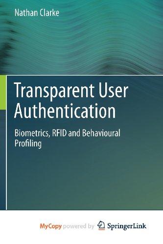 9780857298065: Transparent User Authentication