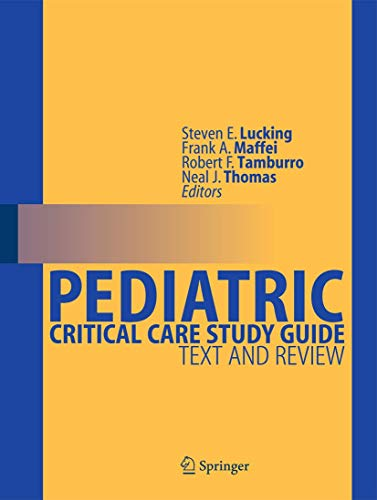 9780857299222: Pediatric Critical Care Study Guide: Text and Review