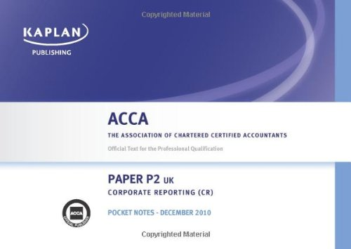 9780857320209: P2 Corporate Reporting Cr (UK) - Pocket Notes