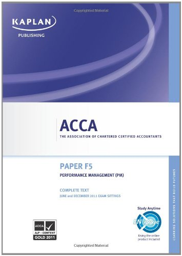 9780857321343: ACCA F5 Performance Management Pm - Complete Text