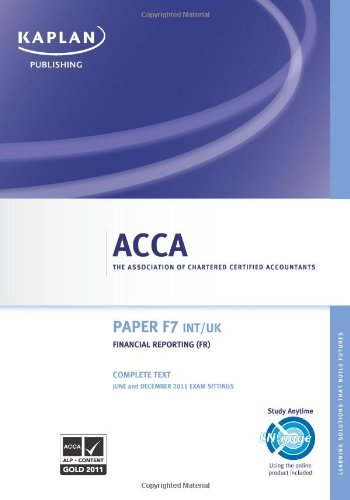 9780857321374: F7 Financial Reporting Fr (int/uk) - Complete Text (Acca)