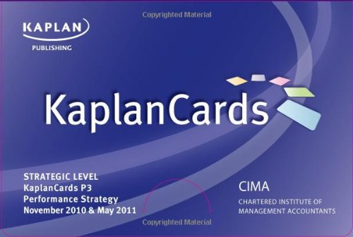 Paper P3 - Performance Strategy - Kaplancards (Cima) - Kaplan Publishing