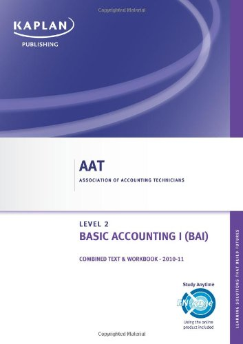 9780857322081: Basic Accounting I - Combined Text and Workbook