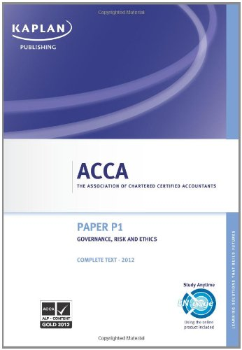 9780857322852: Acca Complete Study Text P1, Governance, Risk and Ethics (GRE J12
