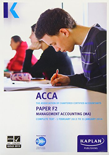 9780857326560: F2 Management Accounting MA - Complete Text (Acca Complete Texts)