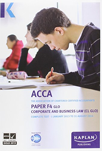 9780857326591: F4 Corporate and Business Law CL (GLO) - Complete Text