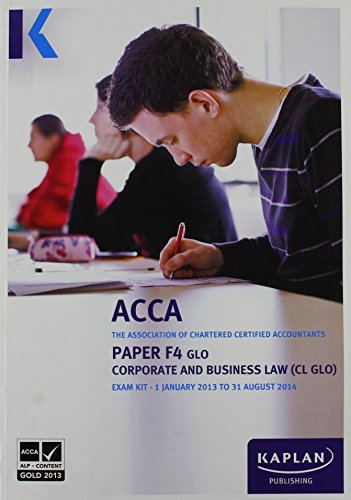 9780857326775: F4 Corporate and Business Law CL (GLO): Exam Kit (Acca Exam Kits)