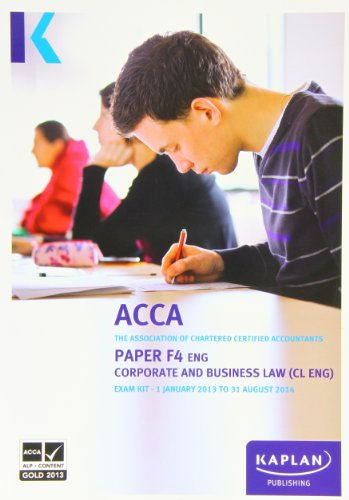 9780857326782: F4 Corporate and Business Law CL (UK): Exam Kit (Acca Exam Kits)