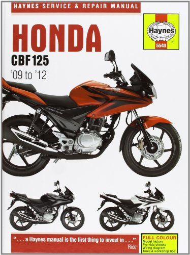9780857335401: Honda CBF125 Service and Repair Manual (Haynes Service and Repair Manuals)