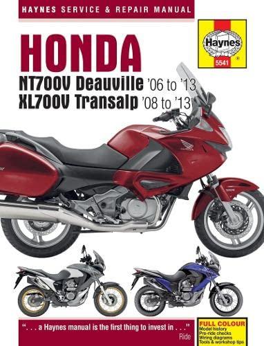 9780857335418: Honda NTV700V Deauville & XL700V Transalp Service and Repair Manual: 2006 to 2012 (Haynes Service and Repair Manuals)