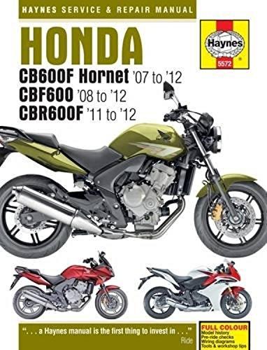 9780857335722: Honda CB600F Hornet, CBF600 & CBR600F Service and Repair Manual