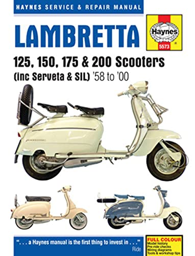 9780857335739: Haynes Service & Repair Manual Lambretta 125, 150, 175 & 200 Scooters: (Including Serveta & Sil), '58 to '00