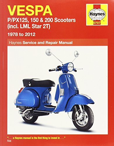 9780857335920: Vespa: P/PX125, 150 & 200 Scooters (incl. LML Star 2T) 1978 to 2012 (Haynes Service & Repair Manual)