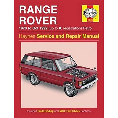 9780857335999: Range Rover V8 Petrol Owners Workshop Manual: 70-92 (Haynes Service and Repair Manuals)