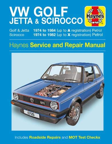 VW Golf, Jetta & Scirocco Owner's Workshop Manual (Paperback)