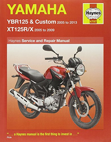 9780857336217: Yamaha YBR125 & XT125R/X Service and Repair Manual (Haynes Service and Repair Manuals)
