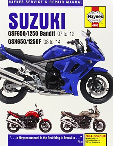 9780857336392: Suzuki GSF650/1250 Bandit & GSX650/1250F Service & Repair Manual