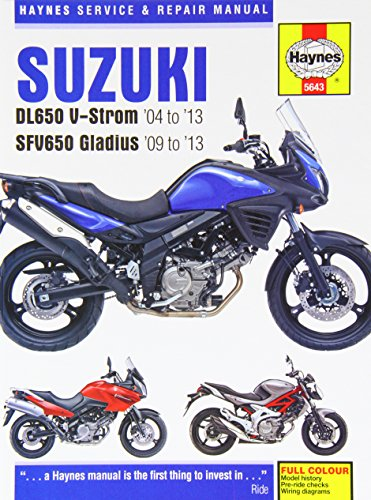 9780857336439: Suzuki Dl650 V-strom & Sfv650 Gladius, '04-'13 (Haynes Service and Repair Manuals)