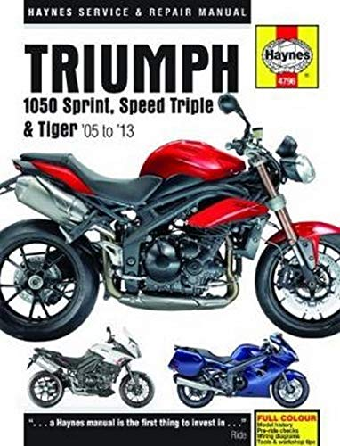 9780857336569: Triumph 1050 Sprint ST, Speed Triple & Tiger Service and Rep (Haynes Service and Repair Manuals)