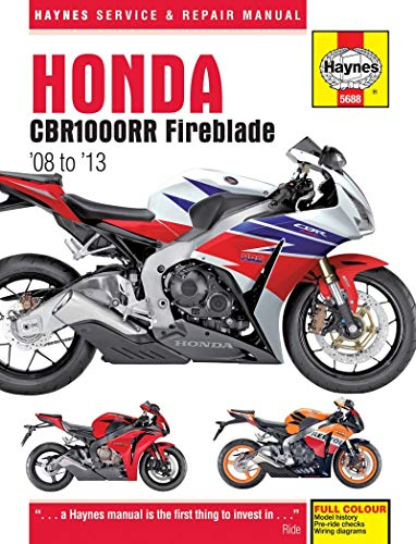 9780857336880: Honda CBR1000RR Service and Repair Manual: 2008-2013 (Haynes Service and Repair Manuals)