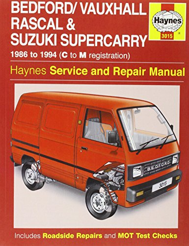 9780857337092: Bedford Rascal / Suzuki Supercarry Service and Repair Manual (Haynes Service and Repair Manuals)