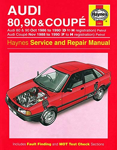 9780857337122: Audi 80, 90 & Coupe Owner's Workshop Manual (Haynes Service and Repair Manuals)