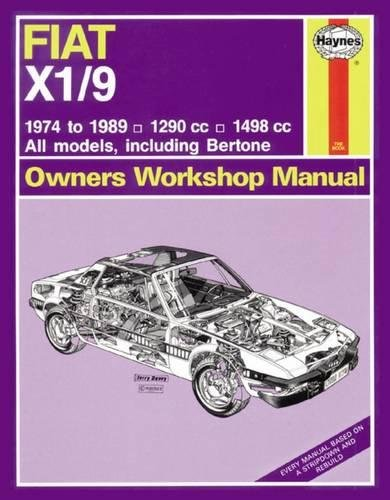 9780857337344: Fiat X1/9 Owner's Workshop Manual (Haynes Service and Repair Manuals)