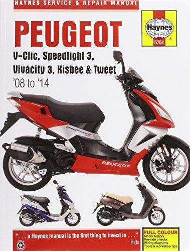 9780857337511: Peugeot V-Clic, Speedfight 3, Vivacity 3, Kisbee & Tweet Service & Repair Manual 2008-2014 (Haynes Service and Repair Manuals)