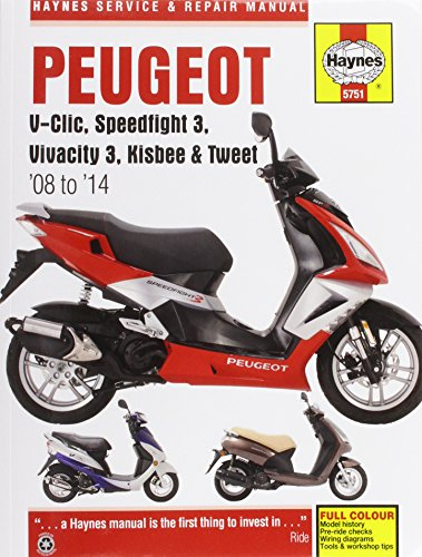 9780857337511: Peugeot V-Clic, Speedfight 3, Vivacity 3, Kisbee & Tweet Service & Repair Manual 2008-2014 (Haynes Service and Repair Manuals)