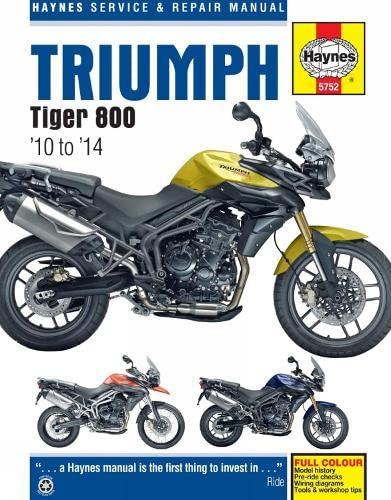 9780857337528: Triumph Tiger 800 Service and Repair Manual: 2010 - 2014 (Haynes Service and Repair Manuals)