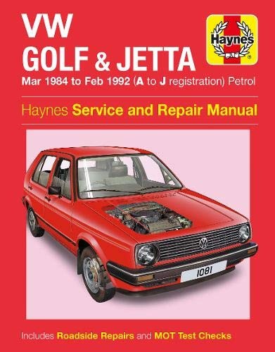 9780857338679: VW Golf & Jetta MK 2 Petrol 84-92 (Haynes Service and Repair Manuals)