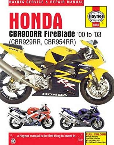 Honda CBR900RR Service and Repair Manual: Haynes Manuals, Editors of