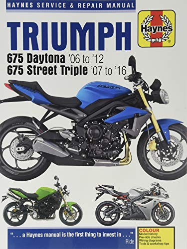 9780857339249: Triumph 675 Daytona & Street Triple Service and Repair Manual 2006 to 2015