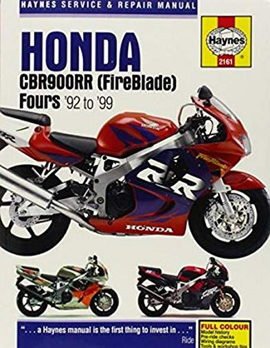 Honda CBR900RR Service and Repair Manual (Haynes Service and Repair Manuals): Editors of Haynes ...