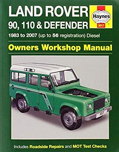 9780857339669: Land Rover 90, 110 & Defender Diesel Service and Repair Manual (Haynes Service and Repair Manuals)