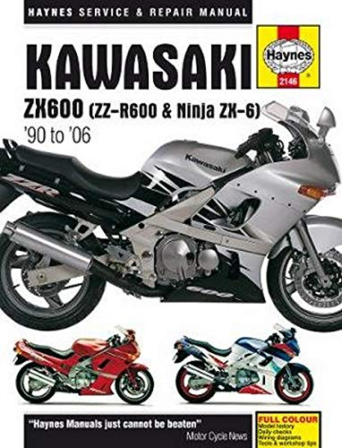 9780857339997: Kawasaki ZX600 (ZZ-R600 & Ninja ZX-6) '90 to '06 (Haynes Service & Repair Manual)