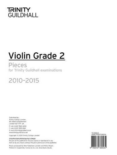9780857360601: Violin Exam Pieces Grade 2 2010-2015 (part Only) (Trinity Guildhall Violin Examination Pieces 2010-2015)
