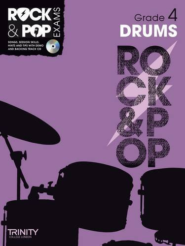 9780857362490: Trinity College London : Rock & Pop Grade 4 For Drums + Cd
