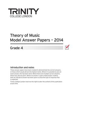 Trinity College London Music Theory Model Answers: Trinity College London