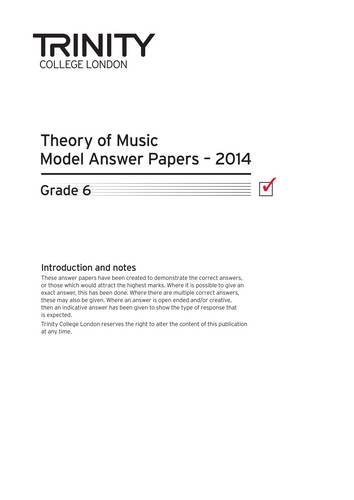 9780857364289: Theory Model Answer Papers Grade 6 2014